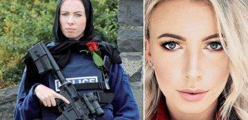 Yeni Zelandiya terrorunun qurbanlarına sayğı göstərən qadın polis dünya gündəmində...