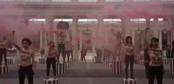 Feministlər aksiya keçirib: Feminisidə son!