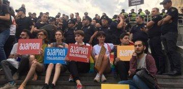 Tbilisidə LGBT-çilərlə millətçilər  arasında qarşıdurma